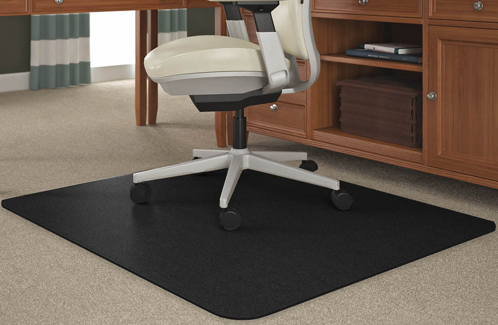 """Best ideas about Office Chair Mats . Save or Pin Black Chair Mats for Medium Pile Carpets 36""""x 48 Now."""