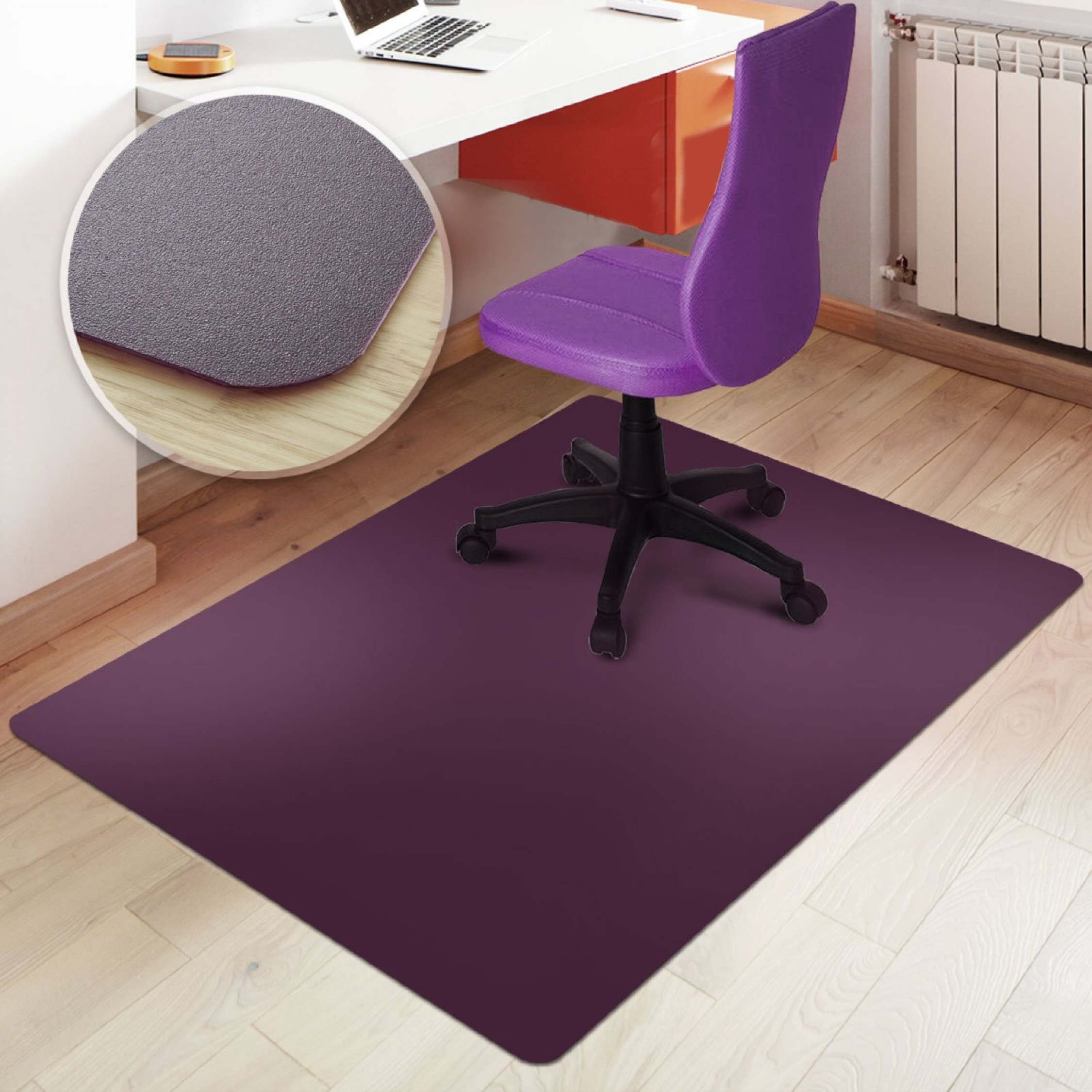 Best ideas about Office Chair Mats . Save or Pin Rectangular fice Chair Mat Purple Hard Floor Protection Now.