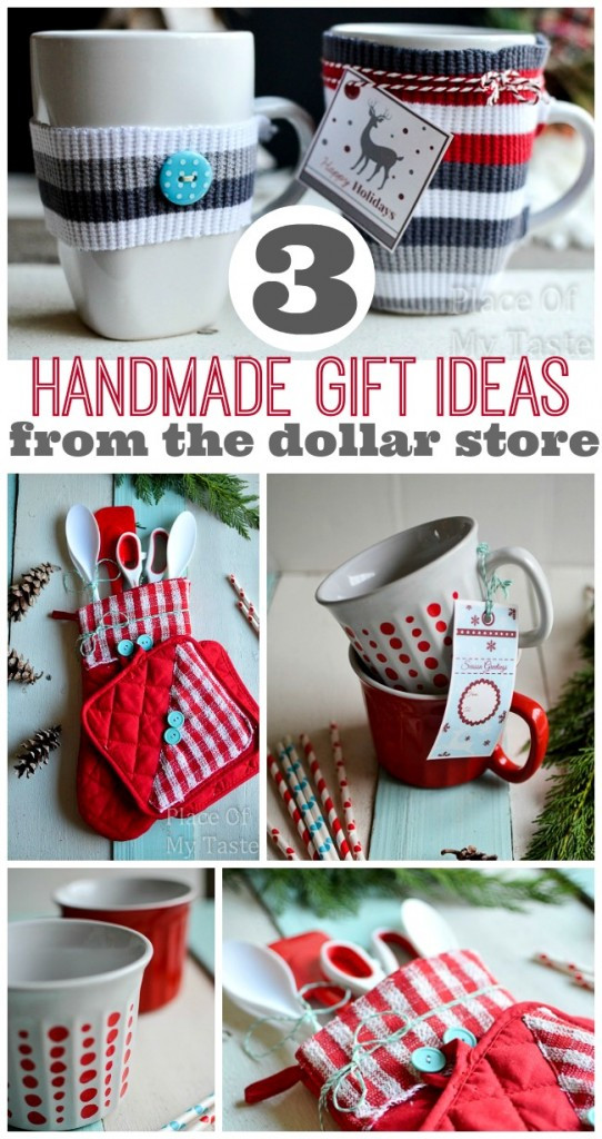 Best ideas about One Dollar Gift Ideas . Save or Pin 3 LAST MINUTE HANDMADE GIFTS FROM $1 STORE PLACE OF MY TASTE Now.