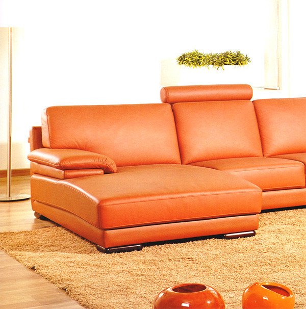 Best ideas about Orange Leather Sofa . Save or Pin 2227 Contemporary Orange Leather Sectional Sofa Now.