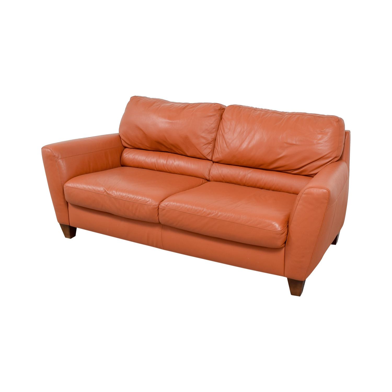 Best ideas about Orange Leather Sofa . Save or Pin OFF Natuzzi Natuzzi Amalfi Burnt Orange Leather Sofa Now.