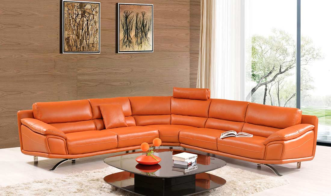 Best ideas about Orange Leather Sofa . Save or Pin Orange Leather Sectional Sofa Orange Sectional Sofa Set Now.