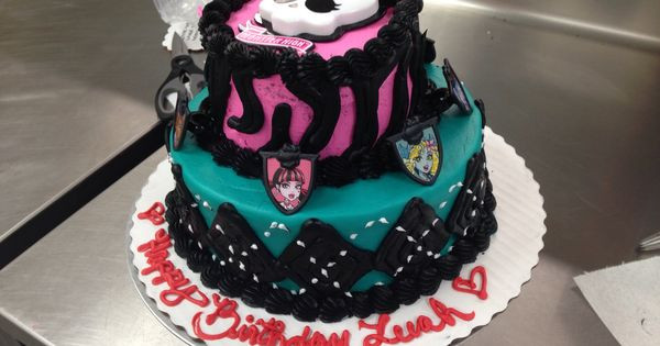 Best ideas about Order Birthday Cake Online Walmart . Save or Pin Custom order Monster high Two tier cake All buttercream Now.