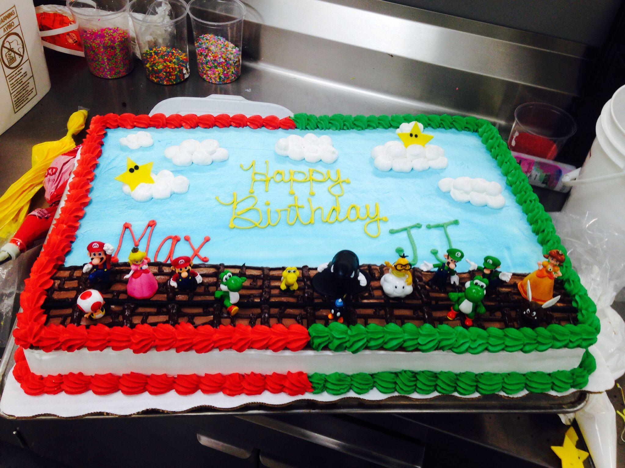 Best ideas about Order Birthday Cake Online Walmart . Save or Pin Custom order Mario bros cake Mario cake Luigi cake Now.