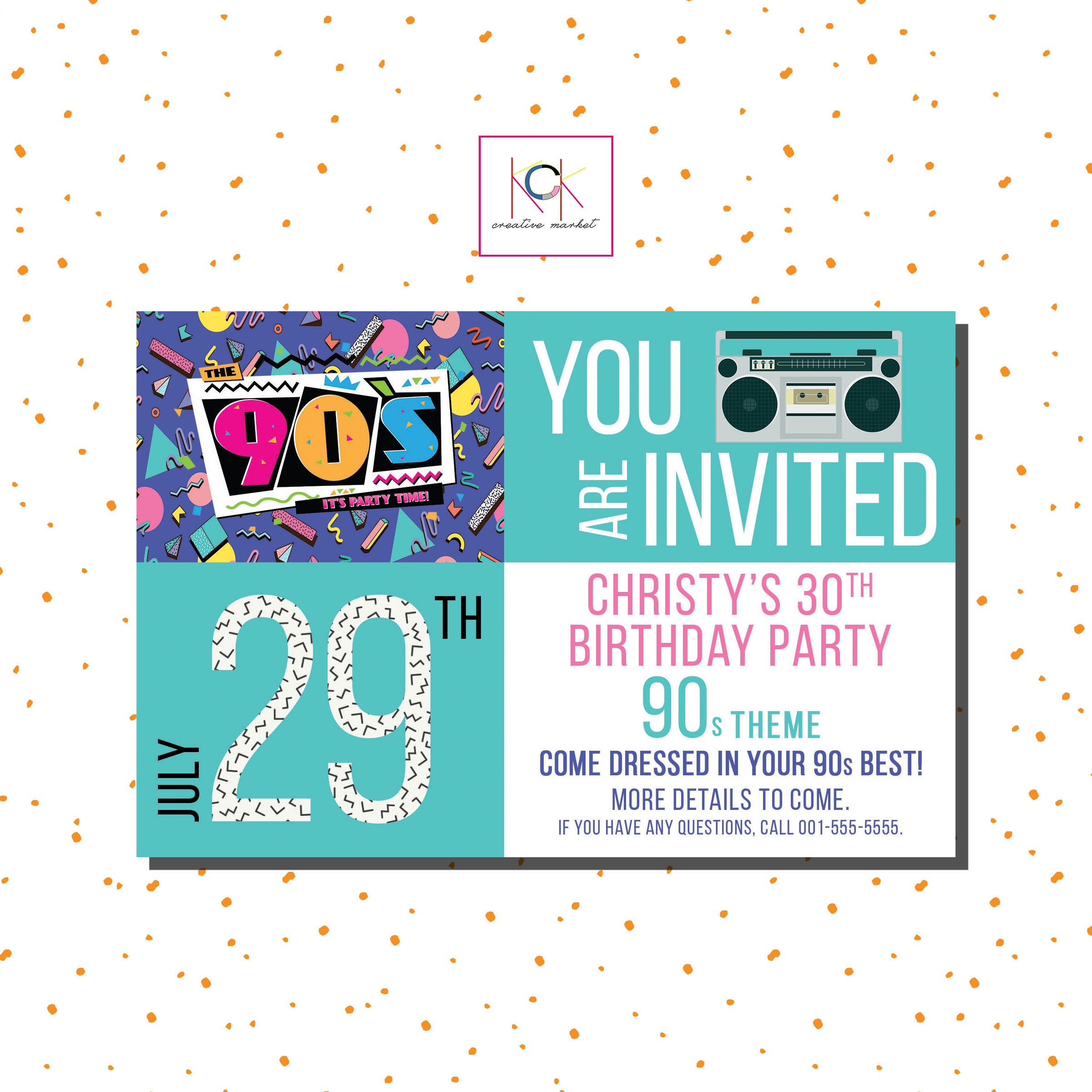 Best ideas about Order Birthday Invitations . Save or Pin 90 s Birthday Party Theme Invitation 30th Birthday Now.