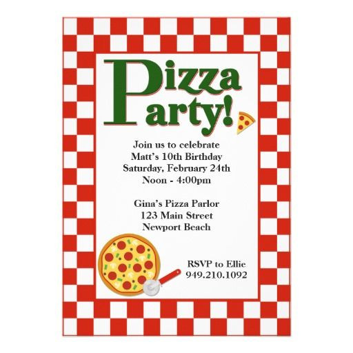 Best ideas about Order Birthday Invitations . Save or Pin Order Pizza Party Birthday Invitation Pizza Party Now.