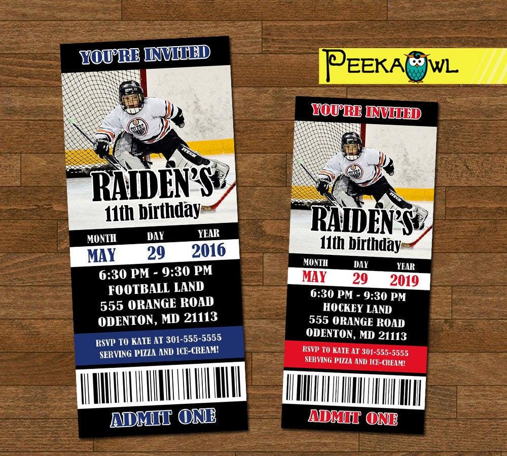 Best ideas about Order Birthday Invitations . Save or Pin Printable Boys Hockey invitation ticket Boys Hockey Now.