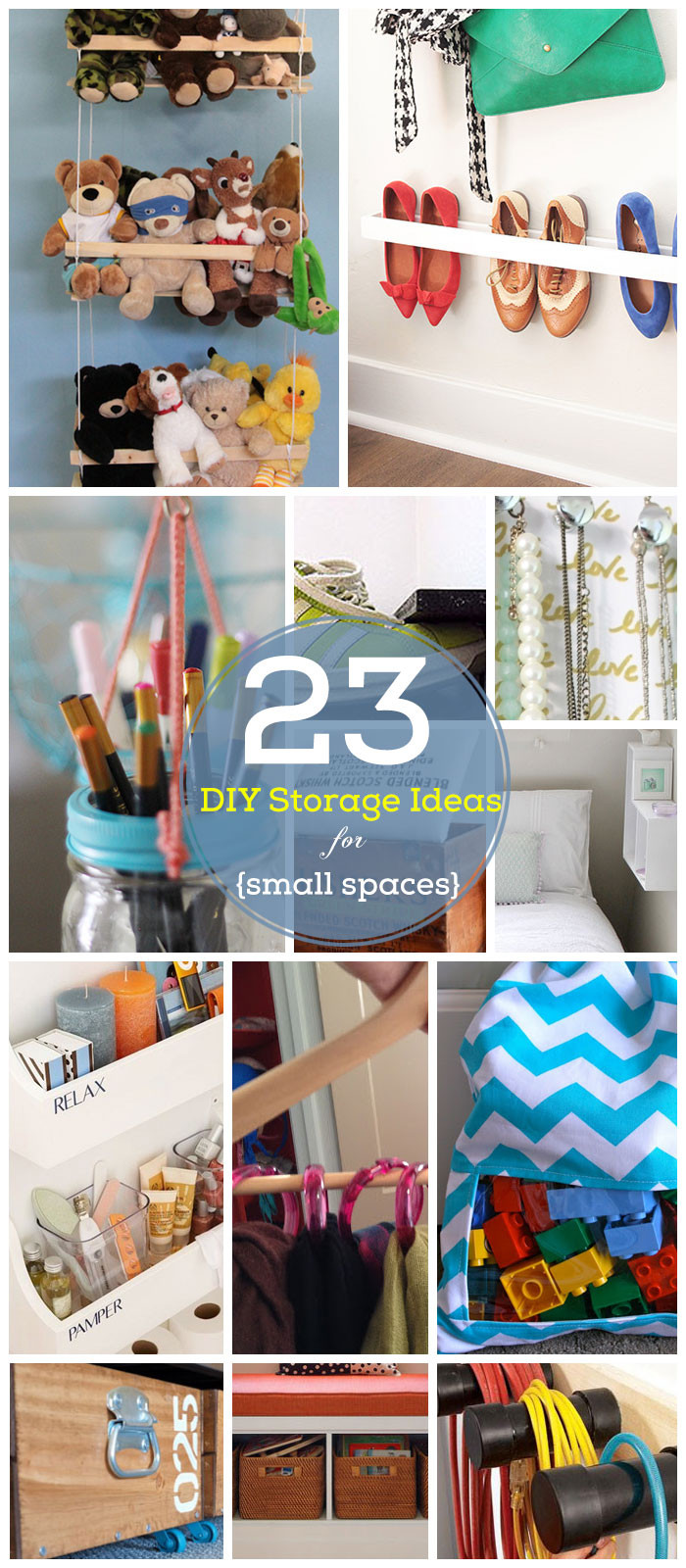 Best ideas about Organization Ideas DIY . Save or Pin 32 DIY Storage Ideas for Small Spaces Now.