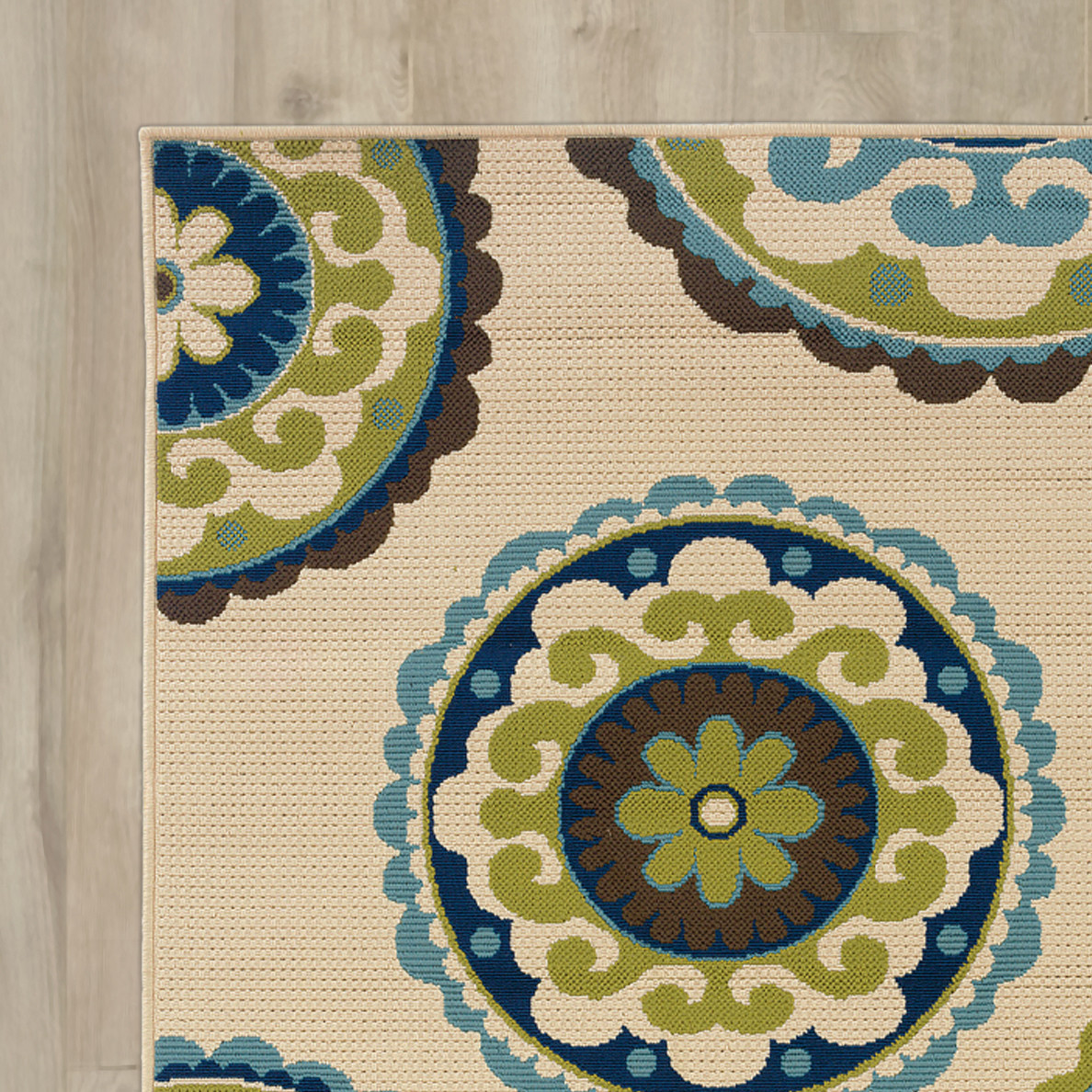 Best ideas about Outdoor Area Rugs . Save or Pin Bungalow Rose Capri Beige Green Indoor Outdoor Area Rug Now.