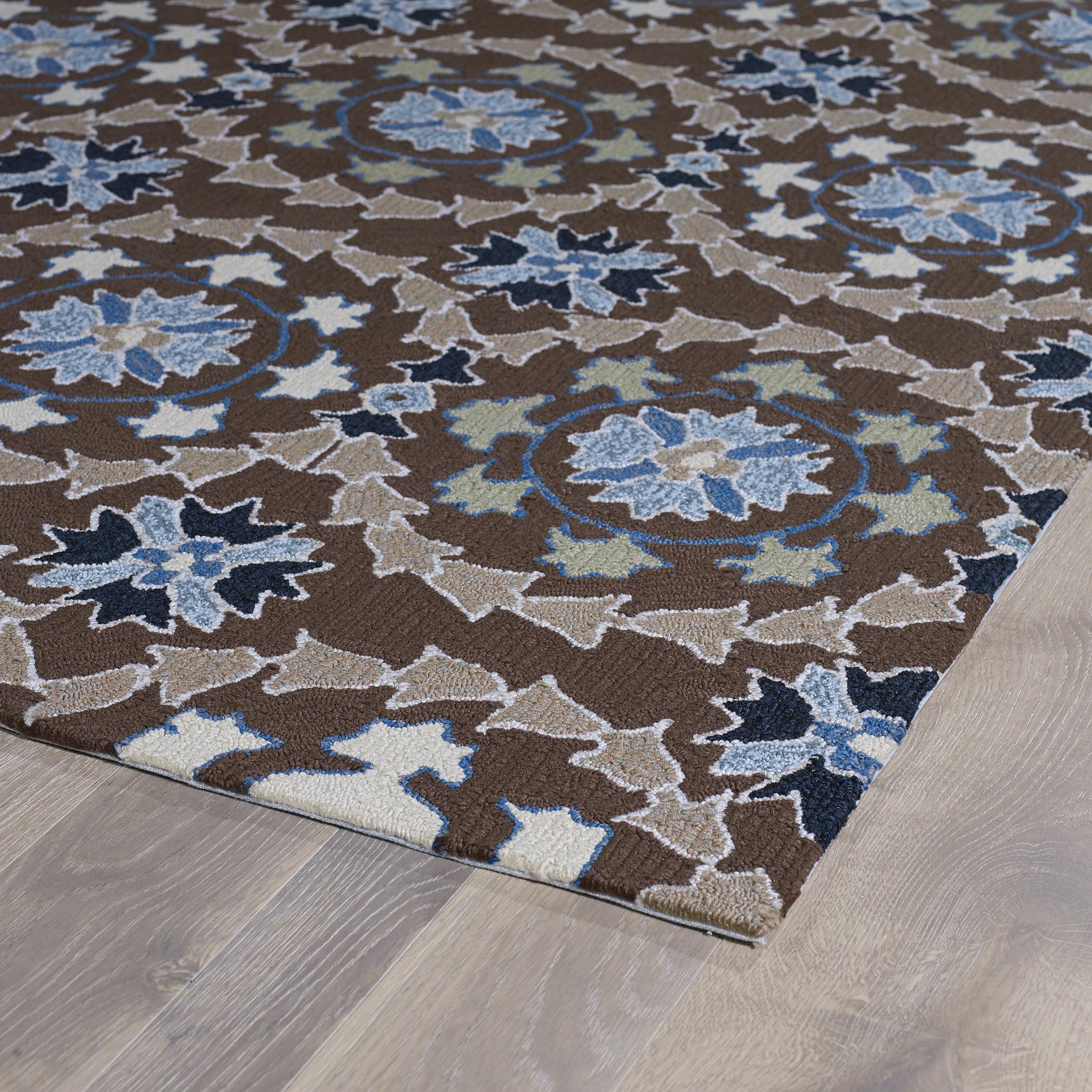 Best ideas about Outdoor Area Rugs . Save or Pin Kaleen Home and Porch Hand woven Blue Brown Indoor Outdoor Now.