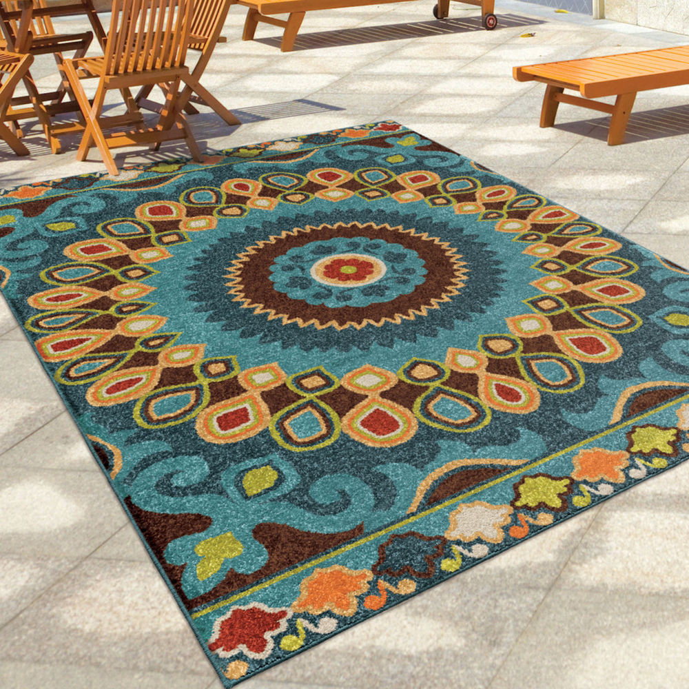 "Best ideas about Outdoor Area Rugs . Save or Pin 8x11 7 8"" x 10 10"" Contemporary Modern Geometric Indoor Now."