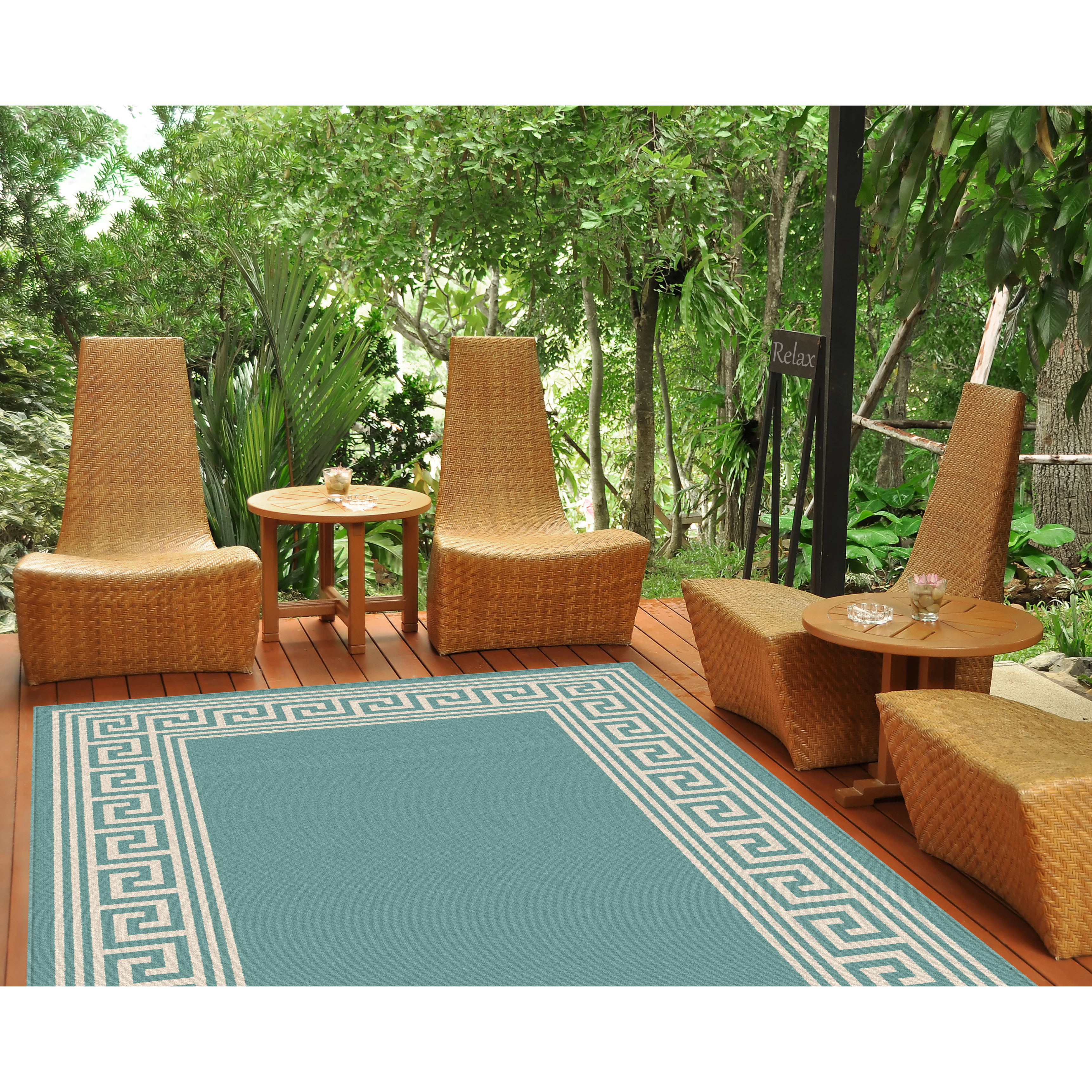 Best ideas about Outdoor Area Rugs . Save or Pin Threadbind Ndefu Aqua Outdoor Area Rug & Reviews Now.