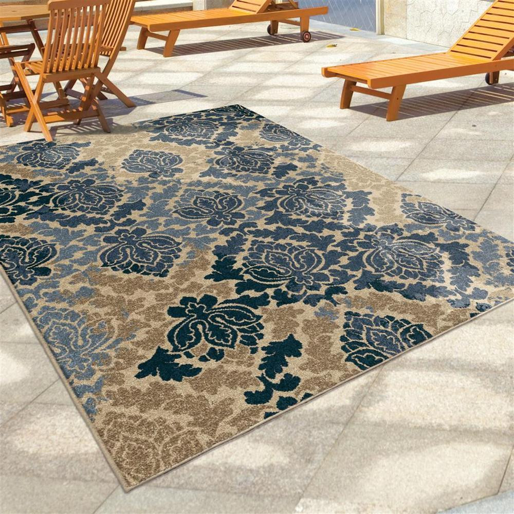 "Best ideas about Outdoor Area Rugs . Save or Pin 8x11 7 8"" x 10 10"" Contemporary Transitional Blue Indoor Now."