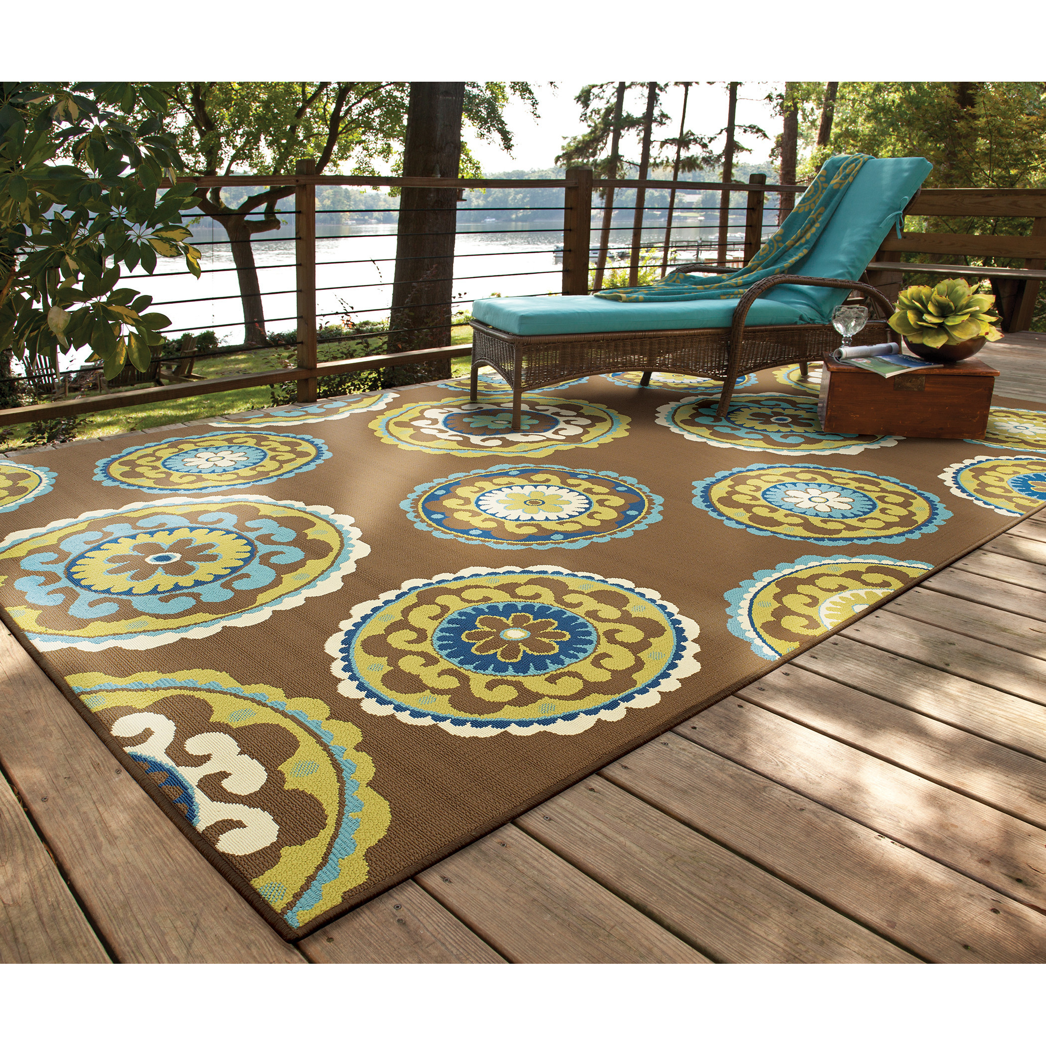 Best ideas about Outdoor Area Rugs . Save or Pin Threadbind Newfield Brown Green Indoor Outdoor Area Rug Now.