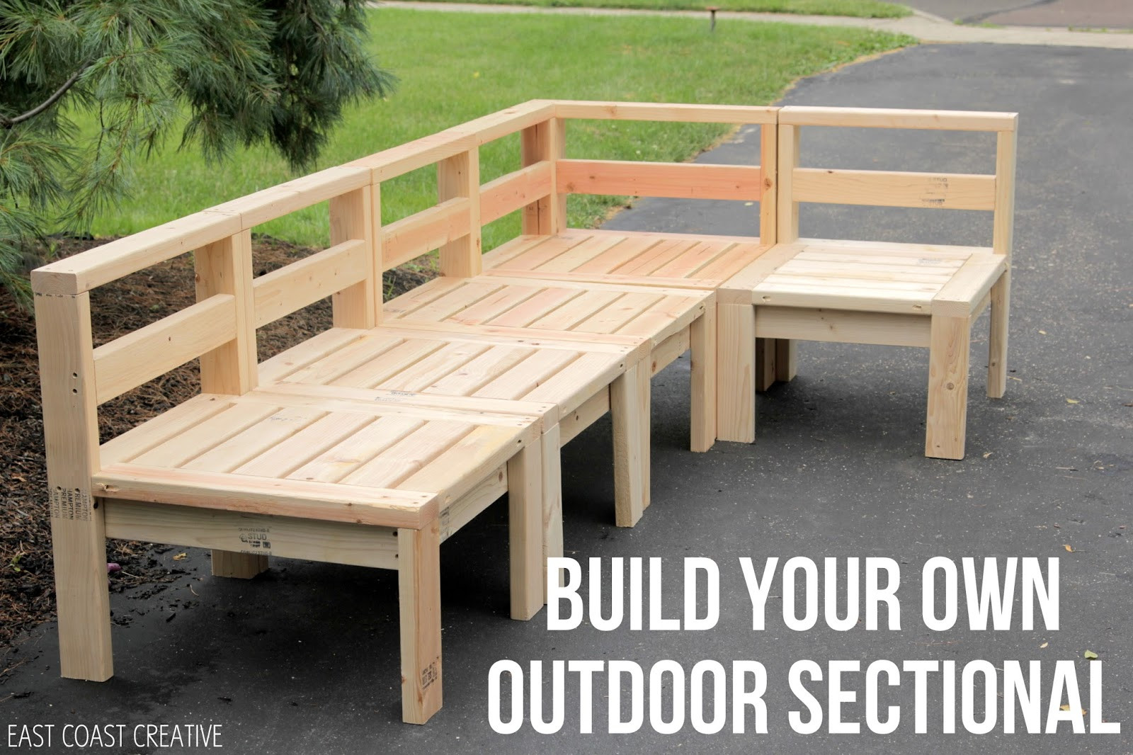 Best ideas about Outdoor Furniture DIY . Save or Pin How to Build an Outdoor Sectional Knock It f Now.
