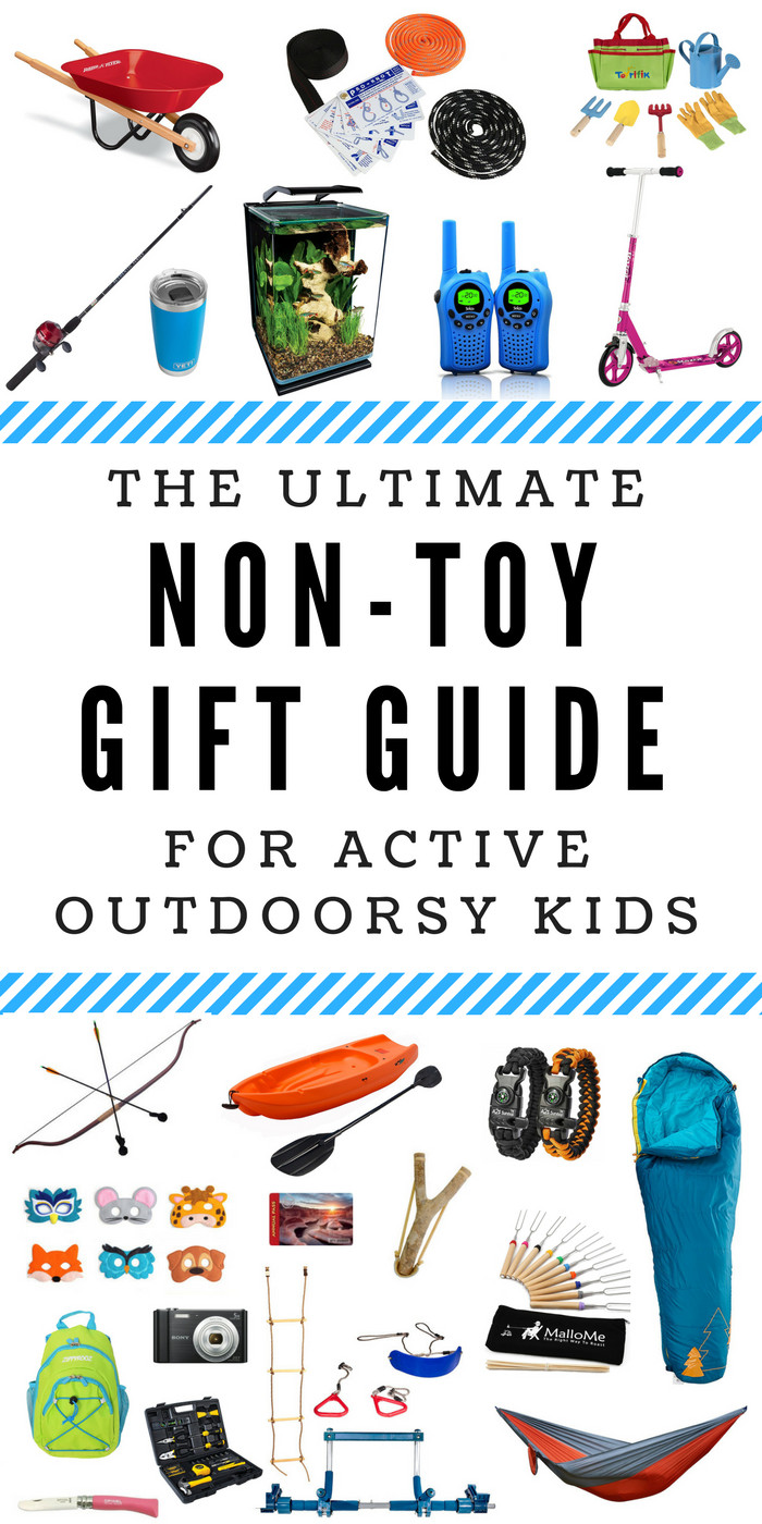 Best ideas about Outdoor Gift Ideas For Boys . Save or Pin The Ultimate Non Toy Gift Guide for Active Outdoorsy Kids Now.