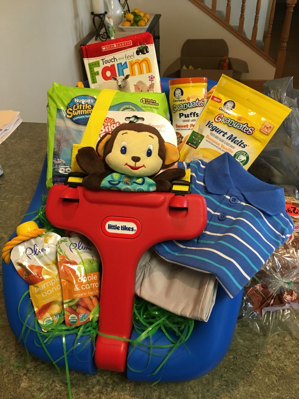 Best ideas about Outdoor Gift Ideas For Boys . Save or Pin Outdoor infant swing Easter basket for boy Now.