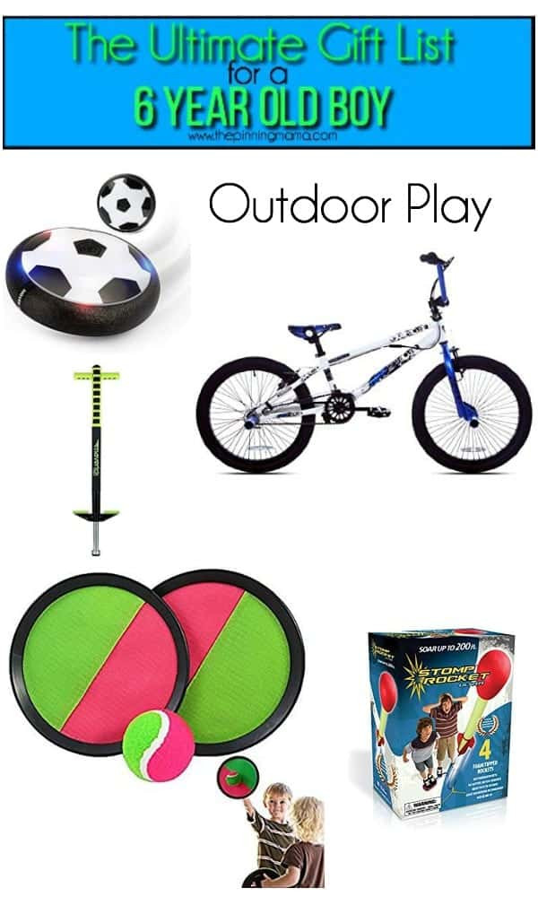 Best ideas about Outdoor Gift Ideas For Boys . Save or Pin The Ultimate Gift List for a 6 year old Boy • The Pinning Mama Now.