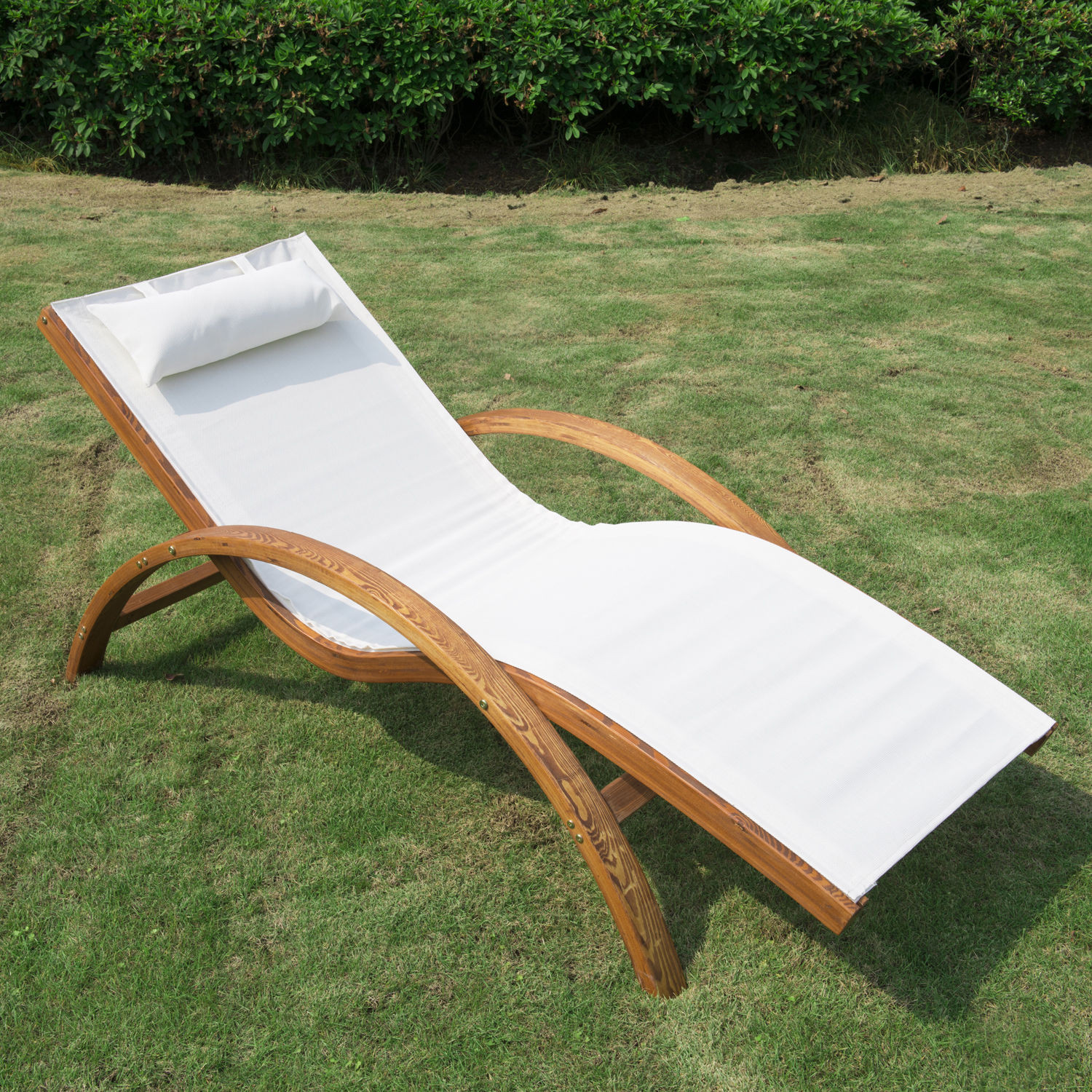 Best ideas about Outdoor Lounge Chairs . Save or Pin Wooden Patio Chaise Lounge Chair Outdoor Furniture Pool Now.