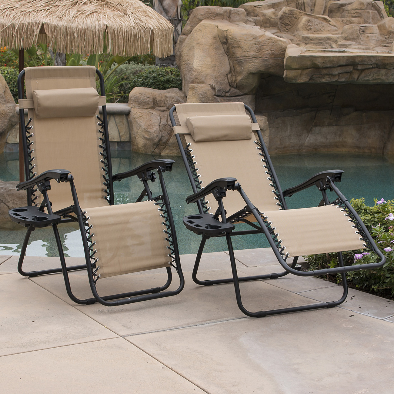 Best ideas about Outdoor Lounge Chairs . Save or Pin 2 Outdoor Zero Gravity Lounge Chair Beach Patio Pool Yard Now.