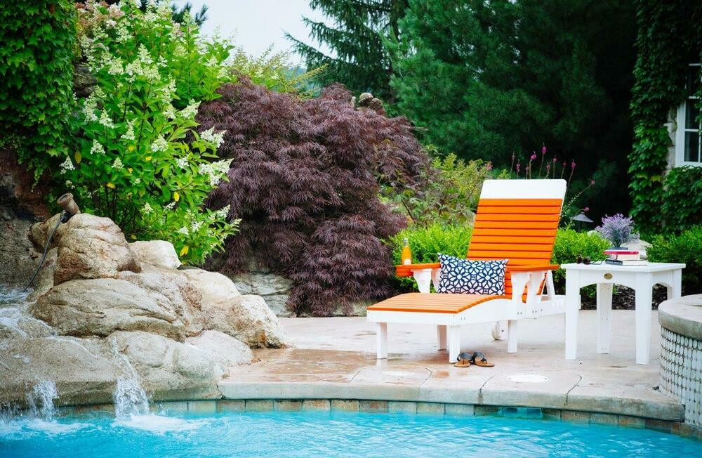 Best ideas about Outdoor Lounge Chairs . Save or Pin Poly Furniture Wood Chaise Lounge MULTIPLE COLORS AMISH Now.