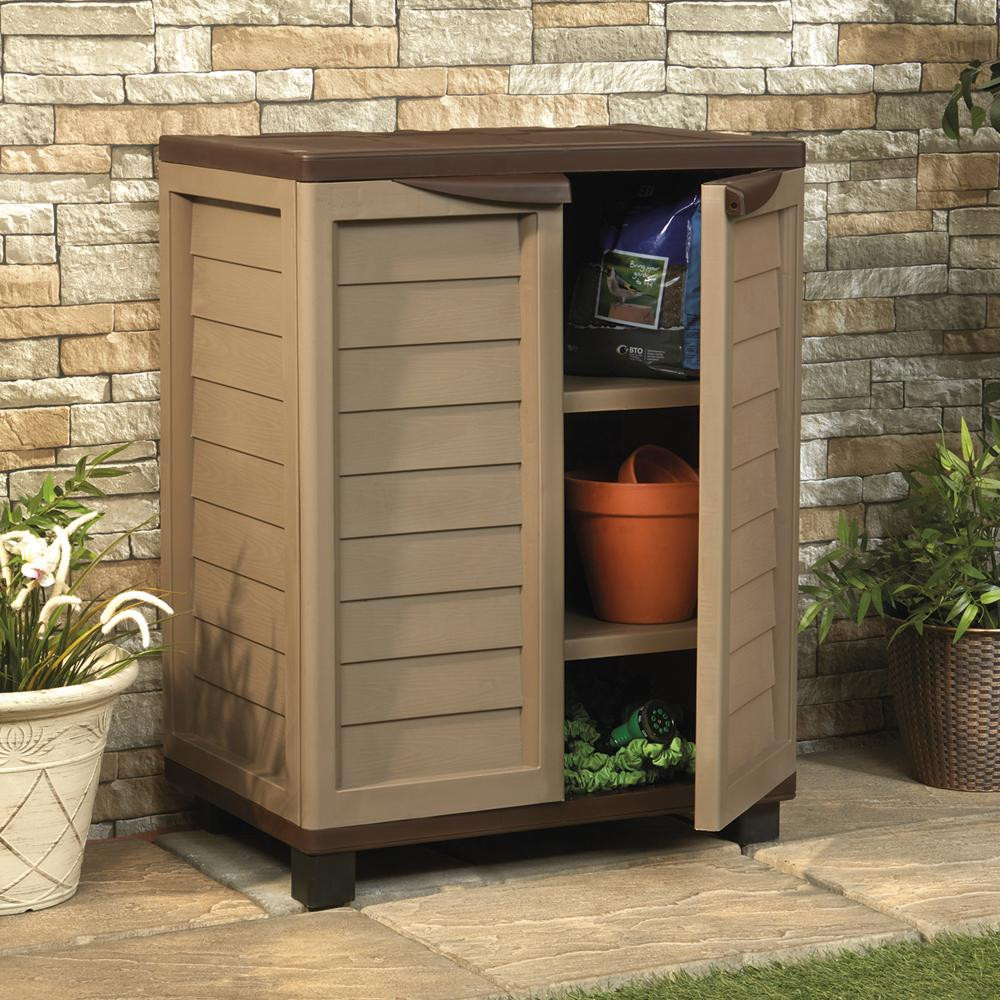 Best ideas about Outdoor Storage Cabinets With Shelves . Save or Pin Plastic Garden Storage Cabinet 273L Utility Unit & Shelves Now.