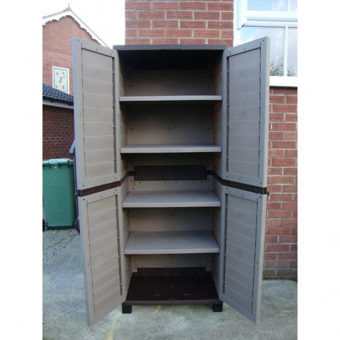 Best ideas about Outdoor Storage Cabinets With Shelves . Save or Pin Starplast Outdoor Plastic Utility Cabinet with 4 Shelves Now.