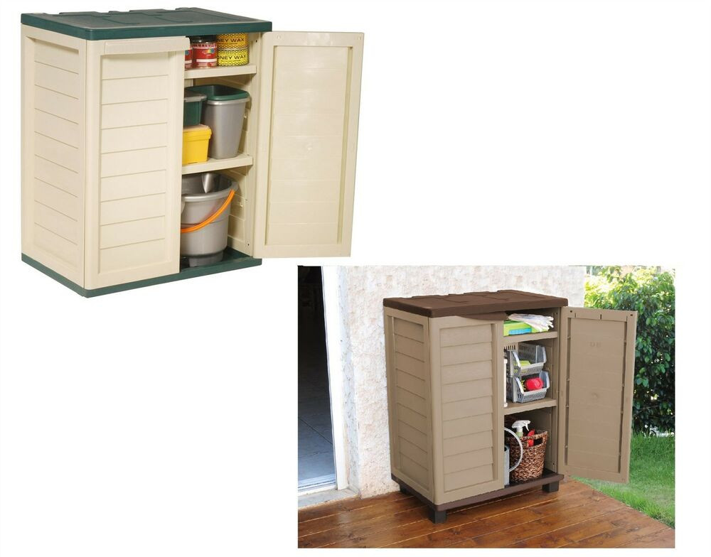 Best ideas about Outdoor Storage Cabinets With Shelves . Save or Pin Garden Indoor Outdoor Garage Storage Low Utility Cabinet Now.