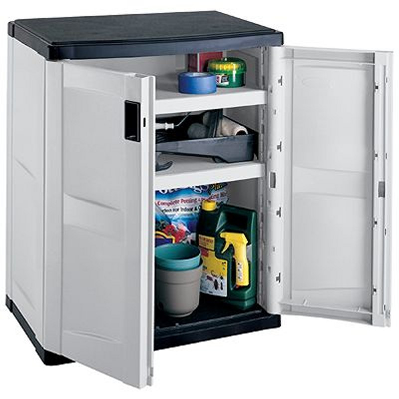 Best ideas about Outdoor Storage Cabinets With Shelves . Save or Pin Outdoor Storage Cabinet with 2 Shelves Gray Black Now.