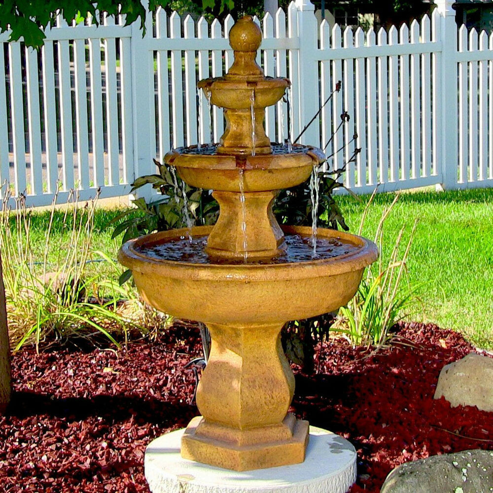 Best ideas about Outdoor Water Fountain . Save or Pin Water Fountain Tropical 3 Tier Outdoor Electric Garden Now.