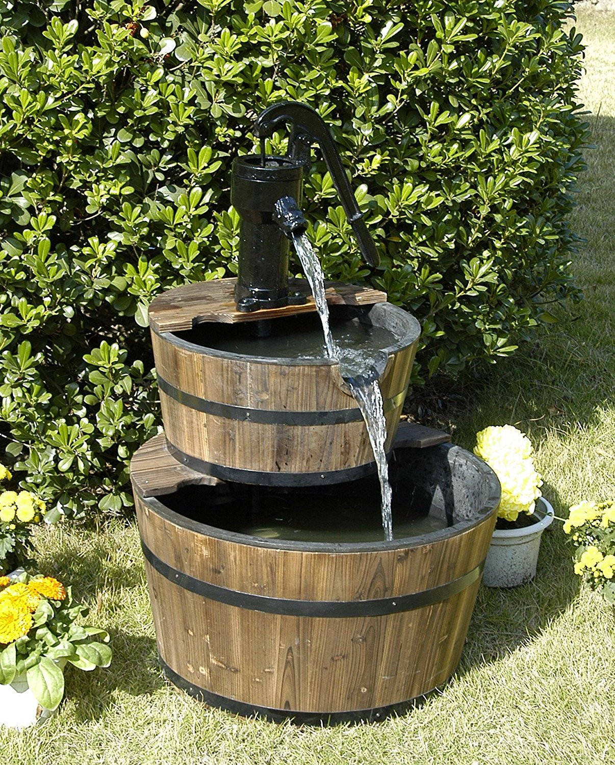 Best ideas about Outdoor Water Fountain . Save or Pin Rustic Three Tier Apple Barrel Outdoor Water Fountain Now.
