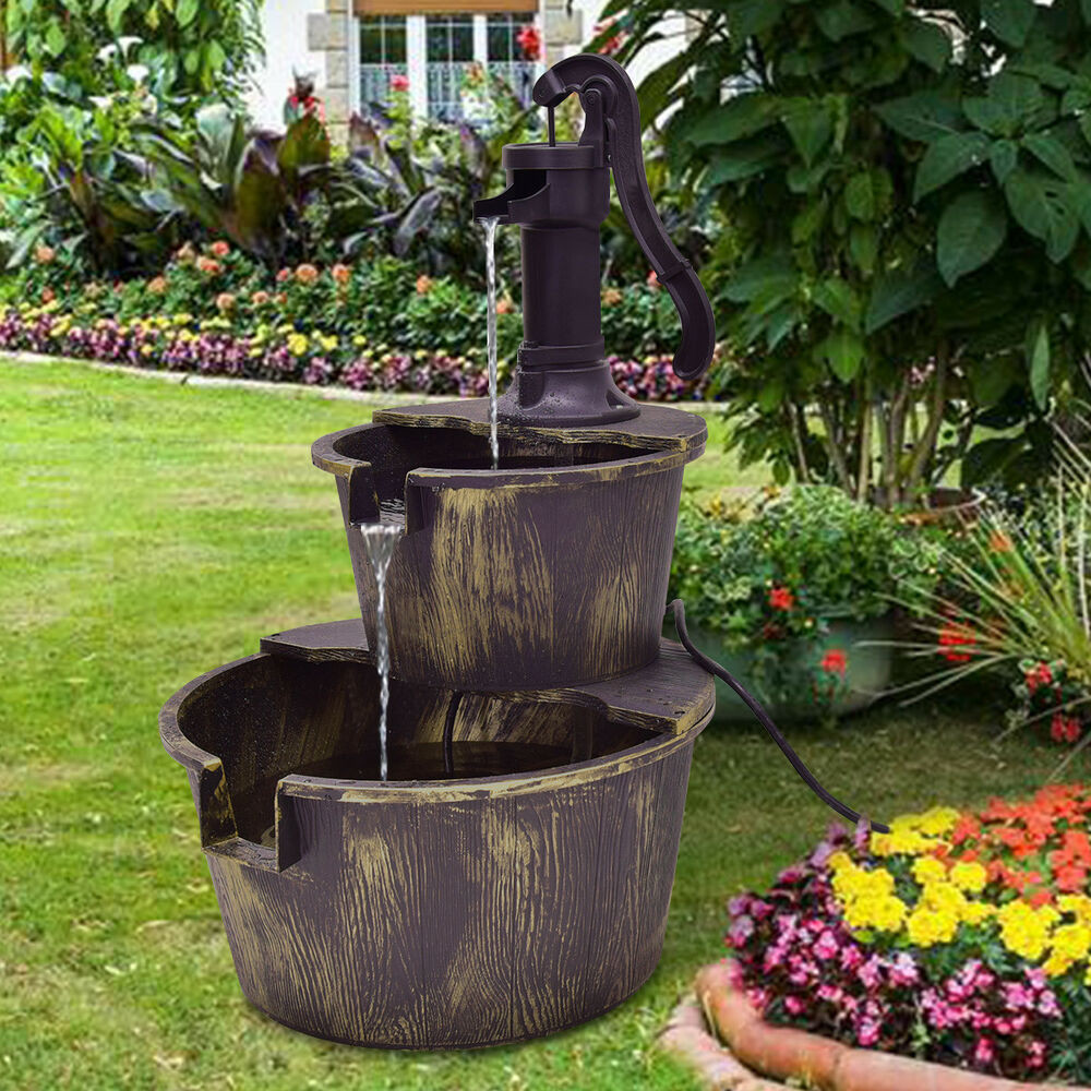 Best ideas about Outdoor Water Fountain . Save or Pin 3 Tier Barrel Waterfall Fountain Barrel Water Fountain Now.