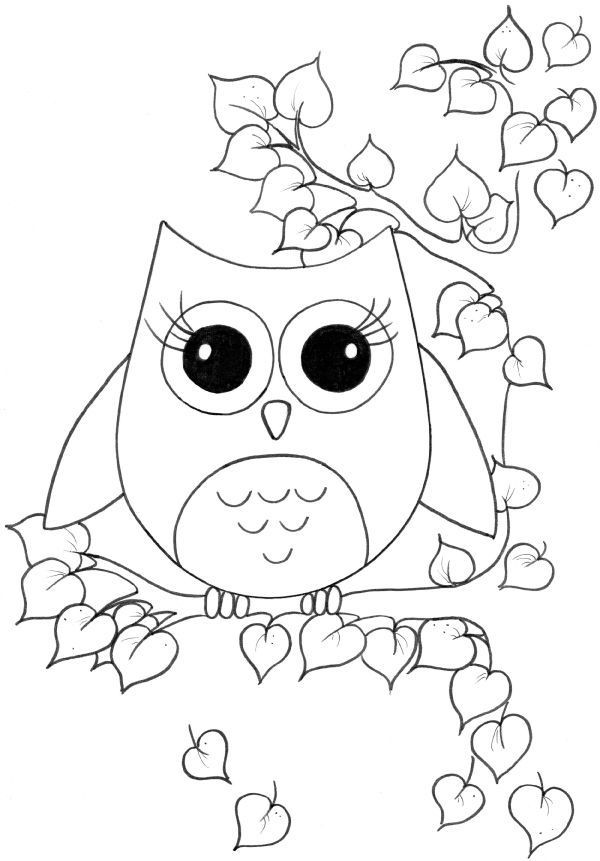 Best ideas about Owl Coloring Sheets For Girls That Say Mom . Save or Pin Cute girl coloring pages to and print for free Now.