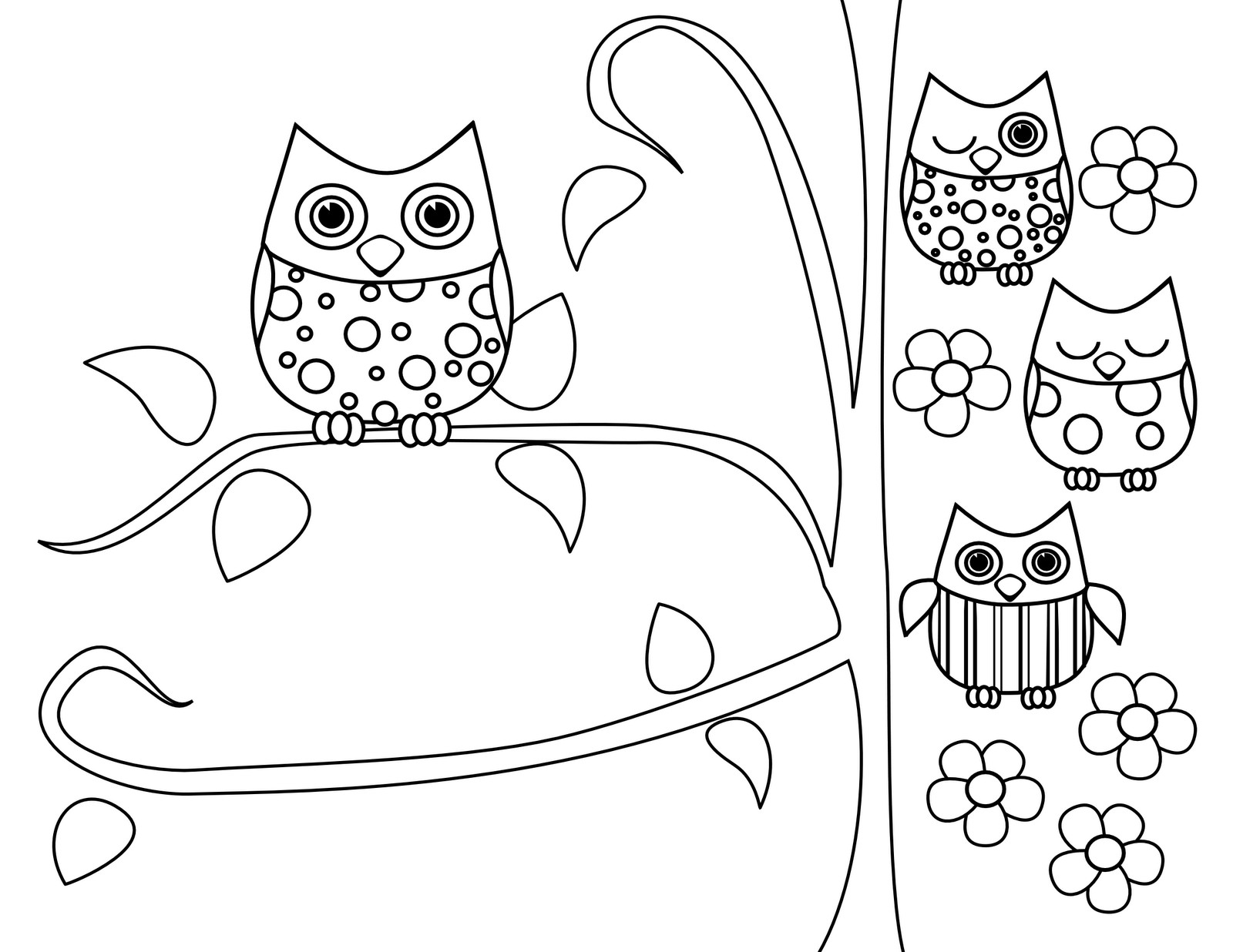 Best ideas about Owl Coloring Sheets For Girls That Say Mom . Save or Pin Cute Owl Coloring Pages Coloring Home Now.