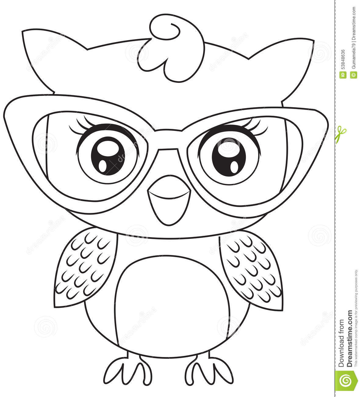 Best ideas about Owl Coloring Sheets For Girls That Say Mom . Save or Pin Owl With Eyeglasses Coloring Page Stock Illustration Now.