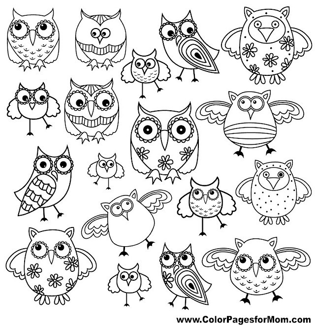Best ideas about Owl Coloring Sheets For Girls That Say Mom . Save or Pin Owl Coloring Page 1 Now.