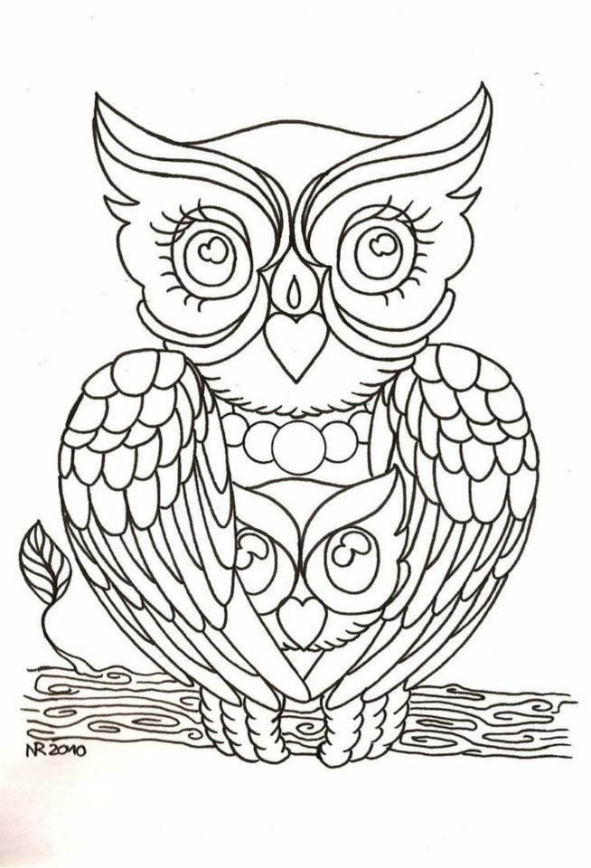 Best ideas about Owl Coloring Sheets For Girls That Say Mom . Save or Pin Mom & I as owls 6 23 2017 painted rock ideas Now.