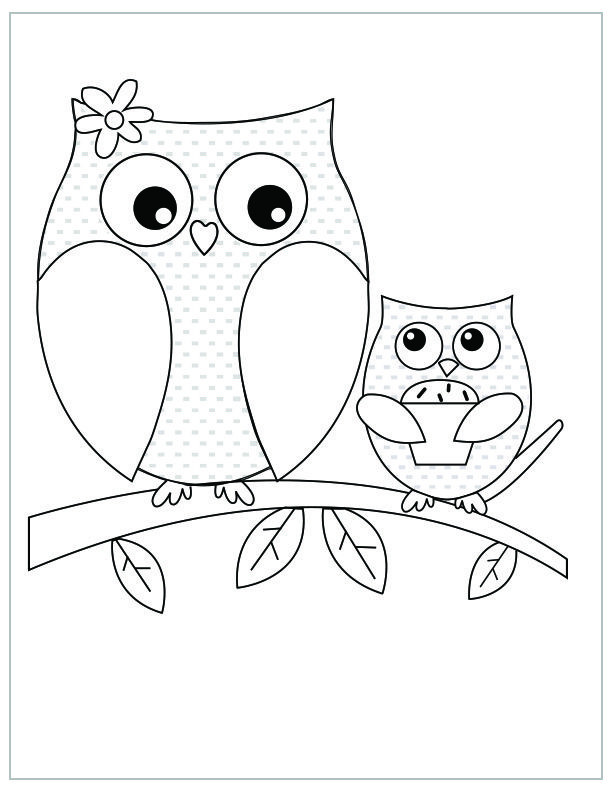 Best ideas about Owl Coloring Sheets For Girls That Say Mom . Save or Pin Mother s Day free printable coloring pages Owl and owlet Now.