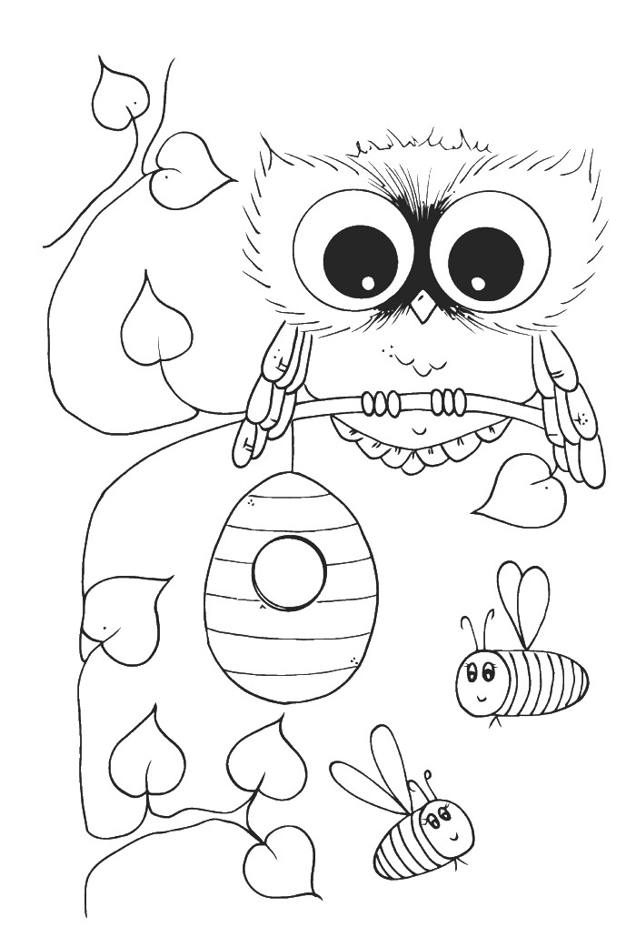 Best ideas about Owl Coloring Sheets For Girls That Say Mom . Save or Pin Coloring Pages Owls AZ Coloring Pages Now.