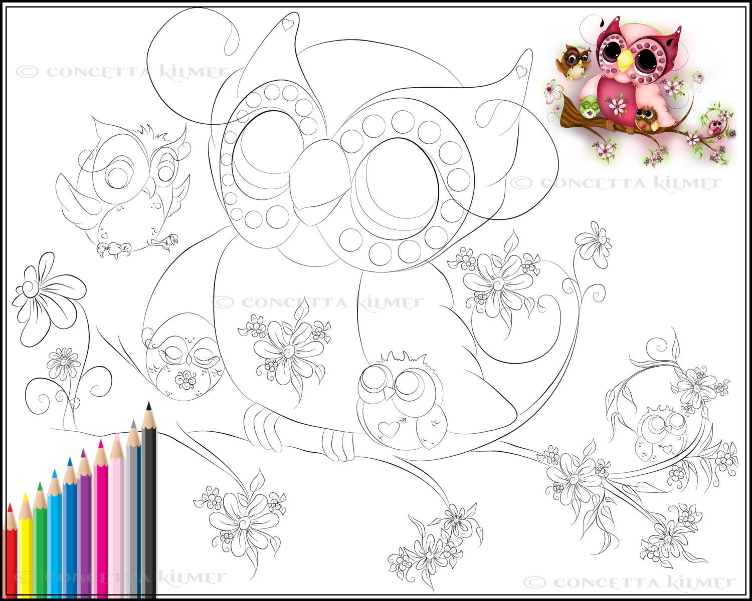 Best ideas about Owl Coloring Sheets For Girls That Say Mom . Save or Pin Owl Coloring Page Under Her Wings Mother s Day Owl Art Now.