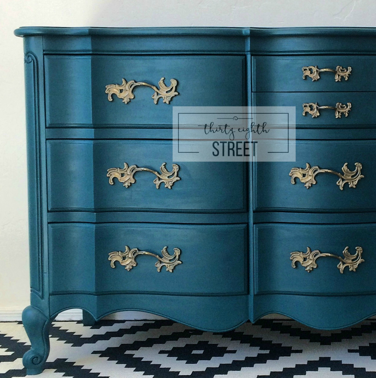 Best ideas about Paint Dresser DIY . Save or Pin Painted Dresser in Peacock Blue Thirty Eighth Street Now.