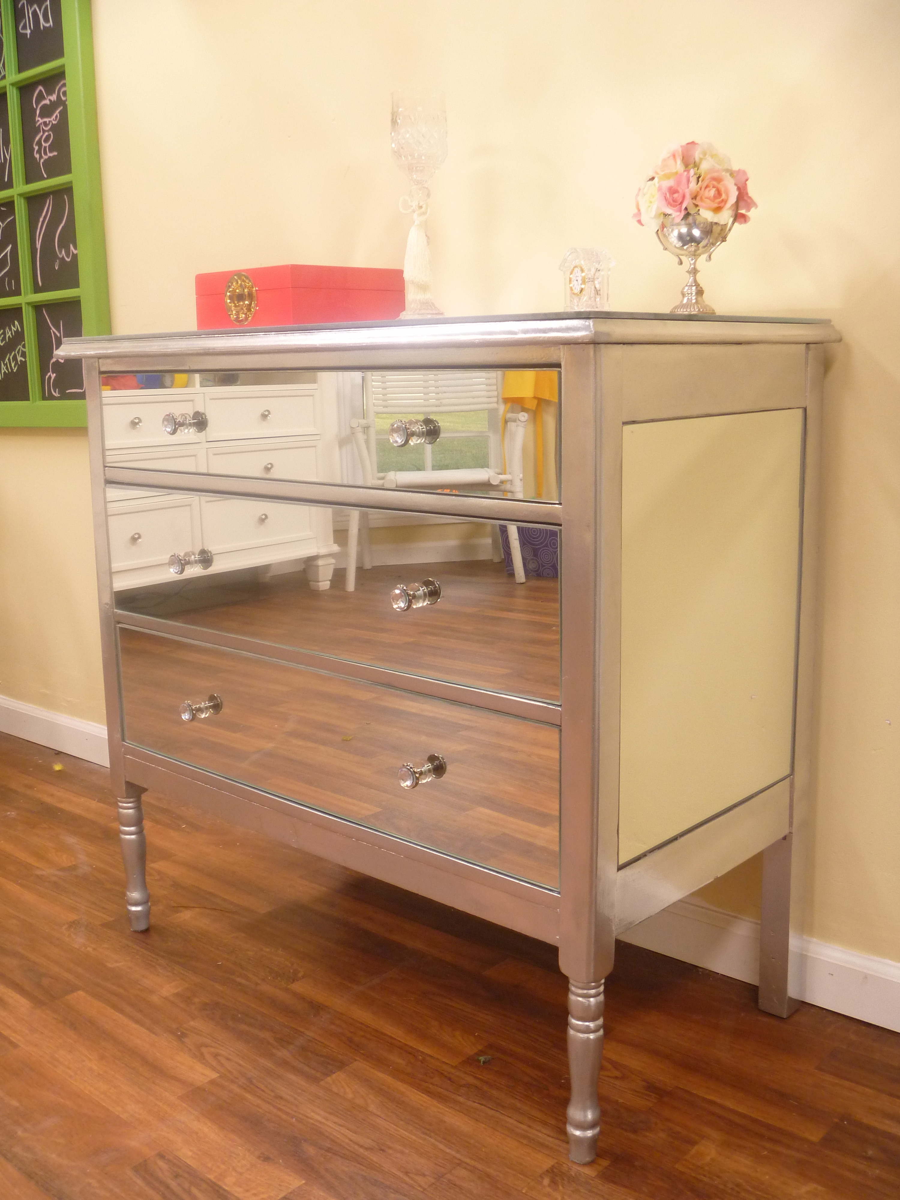 Best ideas about Paint Dresser DIY . Save or Pin DIY Mirrored Dresser Now.
