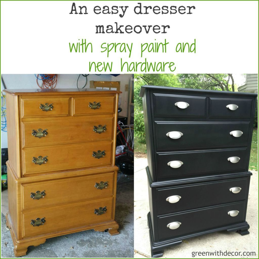 Best ideas about Paint Dresser DIY . Save or Pin A dresser makeover with spray paint Now.