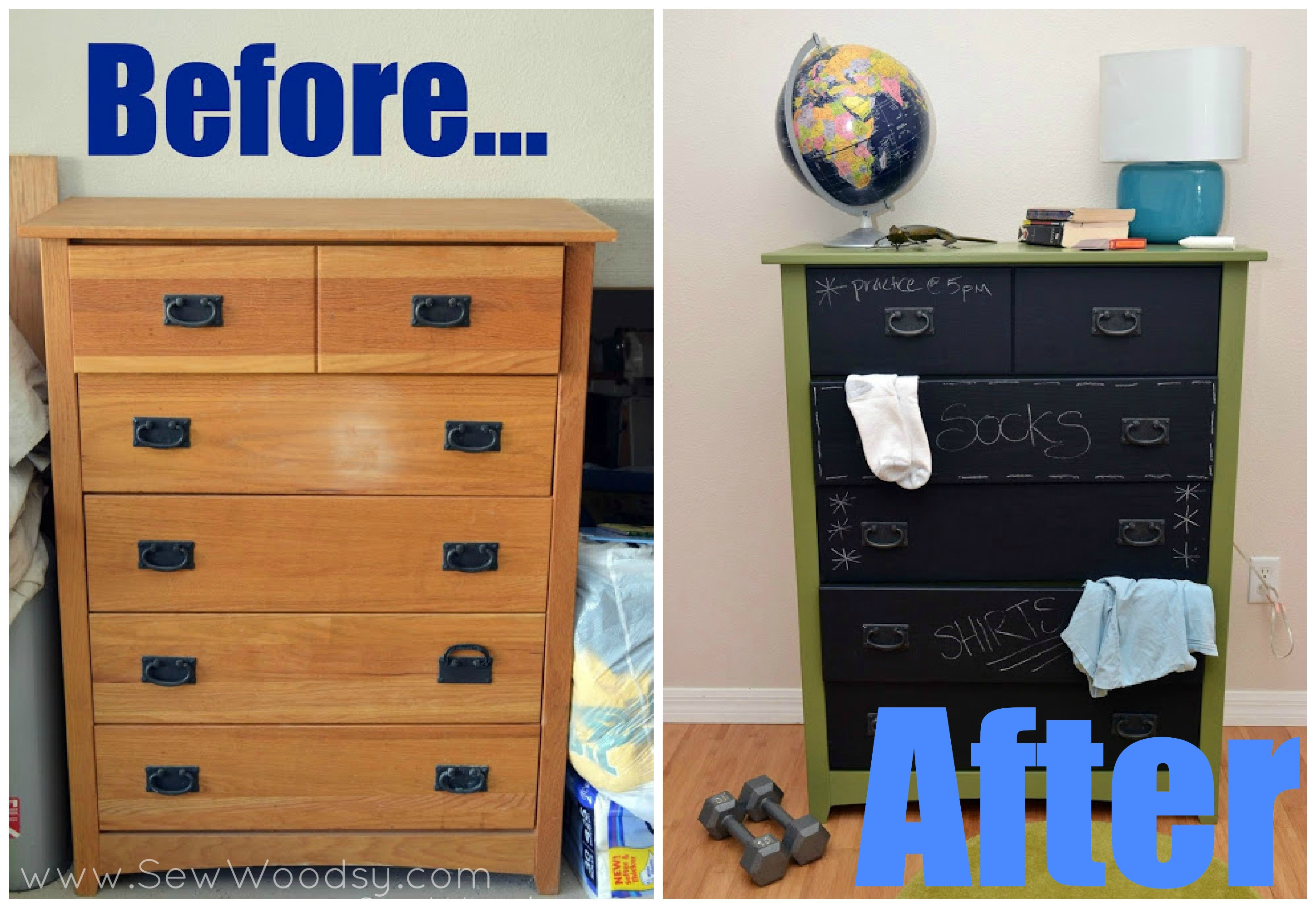 Best ideas about Paint Dresser DIY . Save or Pin DIY Chalkboard Painted Dresser Sew Woodsy Now.