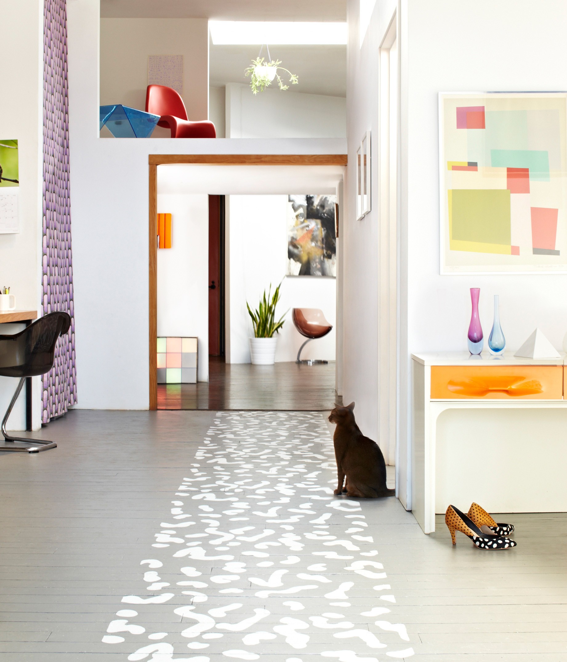 Best ideas about Painted Floors DIY . Save or Pin DIY Project Painted Floor Runner – Design Sponge Now.