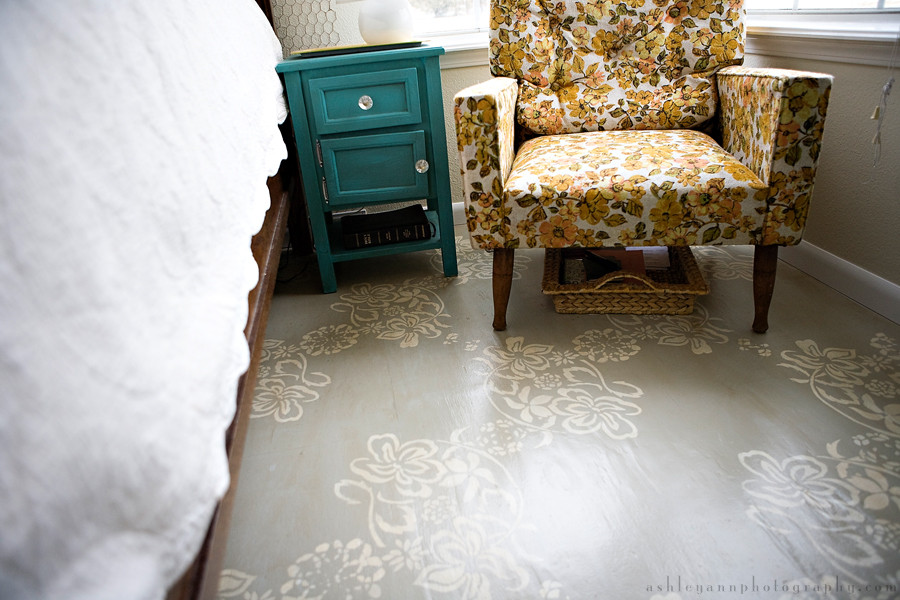 Best ideas about Painted Floors DIY . Save or Pin refresheddesigns green idea diy painted floors Now.