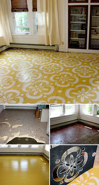 Best ideas about Painted Floors DIY . Save or Pin 10 Stenciled & Painted DIY Floors That Make It Work Now.