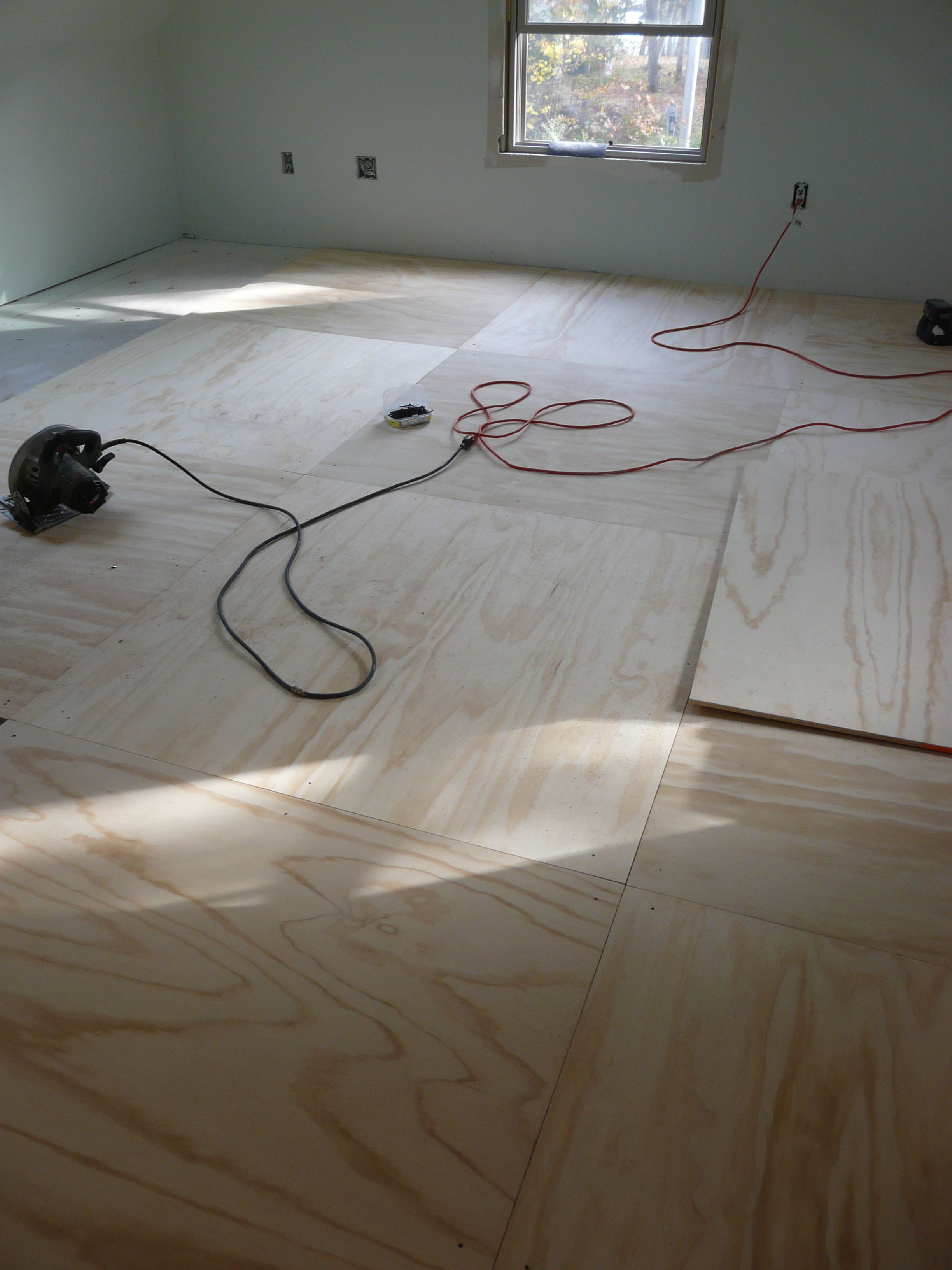 Best ideas about Painted Floors DIY . Save or Pin Plywood floor going down Now.