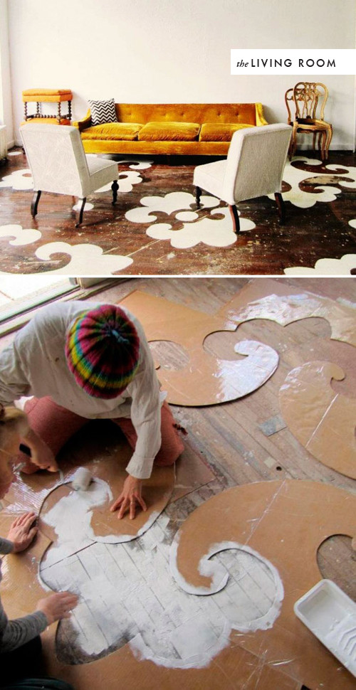 Best ideas about Painted Floors DIY . Save or Pin DIY room to room flooring The House That Lars Built Now.