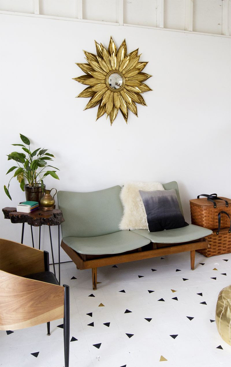 Best ideas about Painted Floors DIY . Save or Pin Geometric Stenciled Floor – A Beautiful Mess Now.